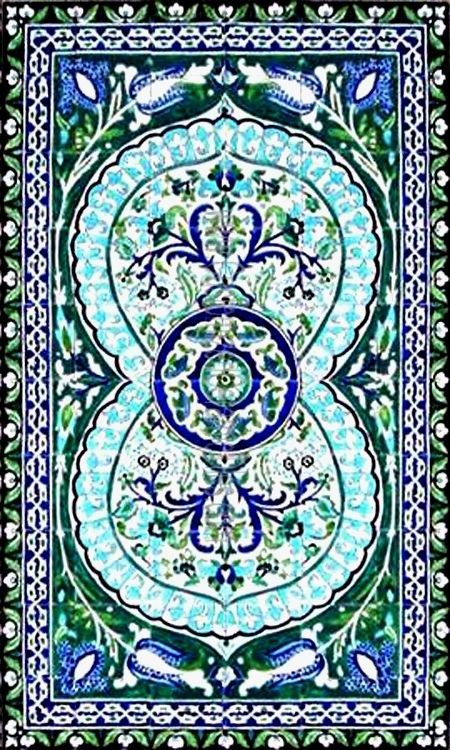 DECORATIVE MOROCCAN TILES:HAND PAINTED MOSAIC KITCHEN BATH POOL PATIO WALL MURAL #ArtsExotiques
