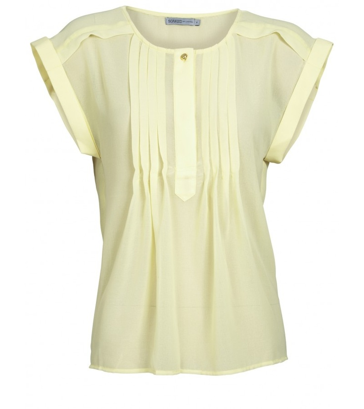 Go girlie with this very pretty lemon yellow Tiktak Top.