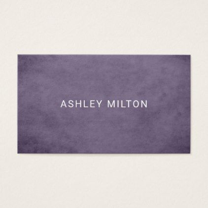 Simple Elegant Texture Purple Beauty Consultant Business Card - professional gifts custom personal diy