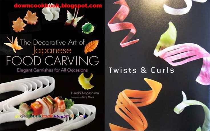 Download Ebook THE DECORATIVE ART OF JAPANESE FOOD CARVING. Japanese cooking is famous for the excellence of its presentation. Among the key components in this presentation style are mukimono- -the embellishing toppings and carvings that add the last thrive to a dish. It may be a carrot adjust fit as a fiddle of a plum bloom. On the other hand a diffusing of cherry blooms culled from a radish. Maybe a swallow, a butterfly, a ginkgo leaf or a bunch of pine needles.