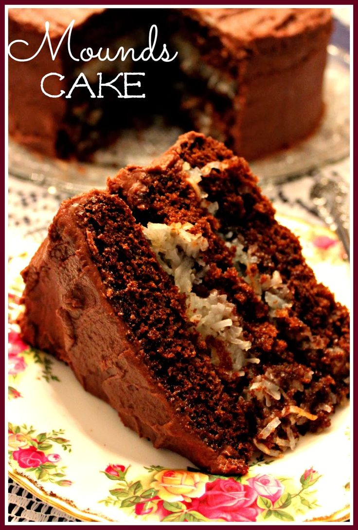 Mounds Cake! I am going to use milk chocolate and chopped almonds and make an almond joy cake.