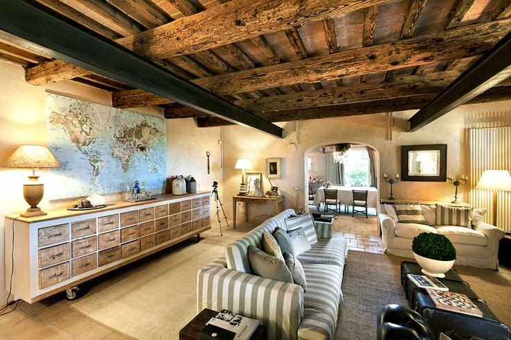 decoracion de interiores salones rusticos:Vicky's Home: Vivir en el campo, una casa rústica / Country living