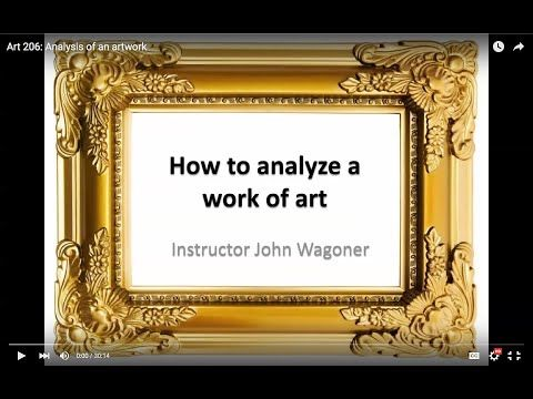 How to look at Art - The elements of Art part1 - YouTube