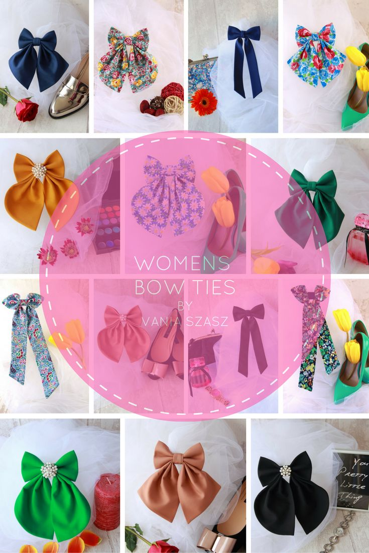 Women`s Bow Ties Collection By Vania Szasz.  Most beautiful woman bow ties for ladies.  All bow ties are handmade with passion.