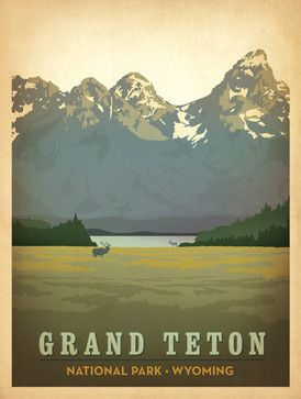 Art & Soul of America: Grand Teton National Park Gallery Print midcentury-fine-art-prints