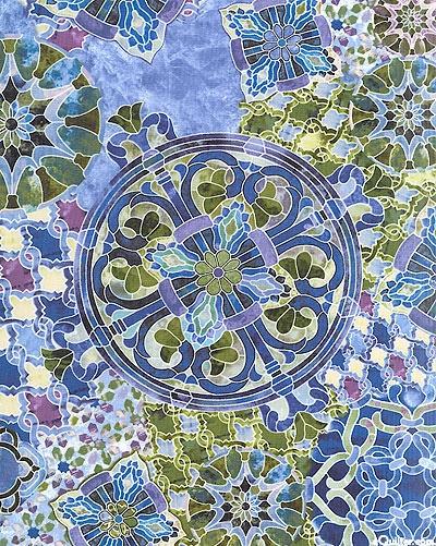 Timeless Treasures - Mosaic C8610-Stone