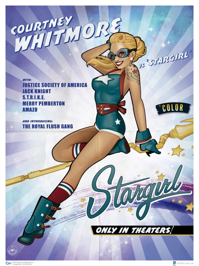Show Your Love For DC Comics Heroines With These Dreamy 1940s Pin-Ups! Stargirl