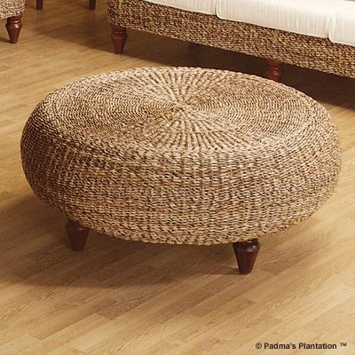 Seagrass Ottoman Beach Inspired Living Room Pinterest