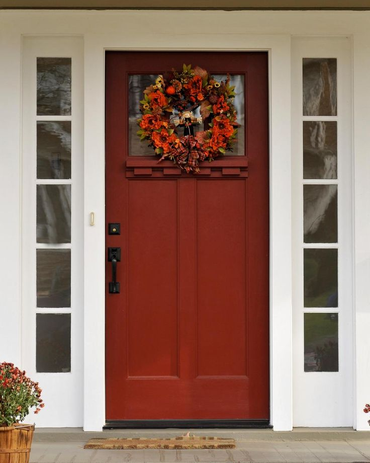 Exterior Front Door Fall Decorations: 7 Curb Appeal Tips For Fall