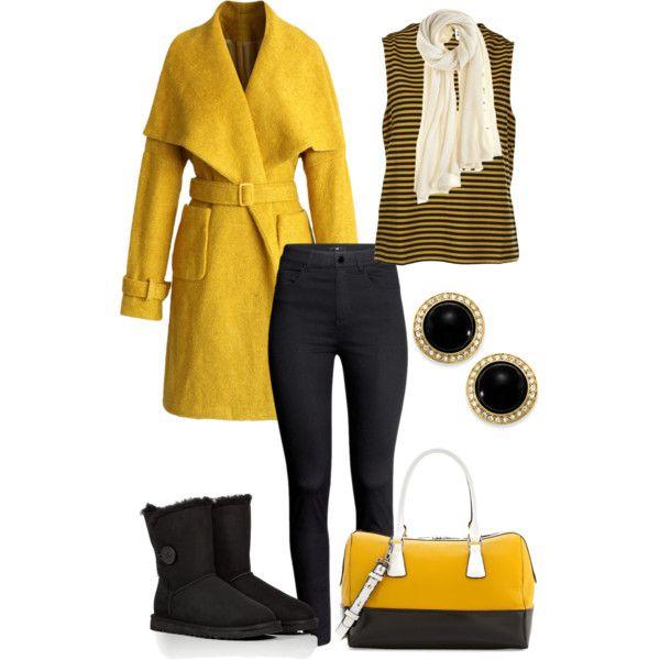 Mustard winter look.