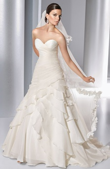 Demetrios - Illusions : Style No. 3137 : Wedding Dresses Gallery : Brides