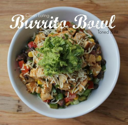 Healthy, clean eating burrito bowl. This is a staple for dinner at my house.