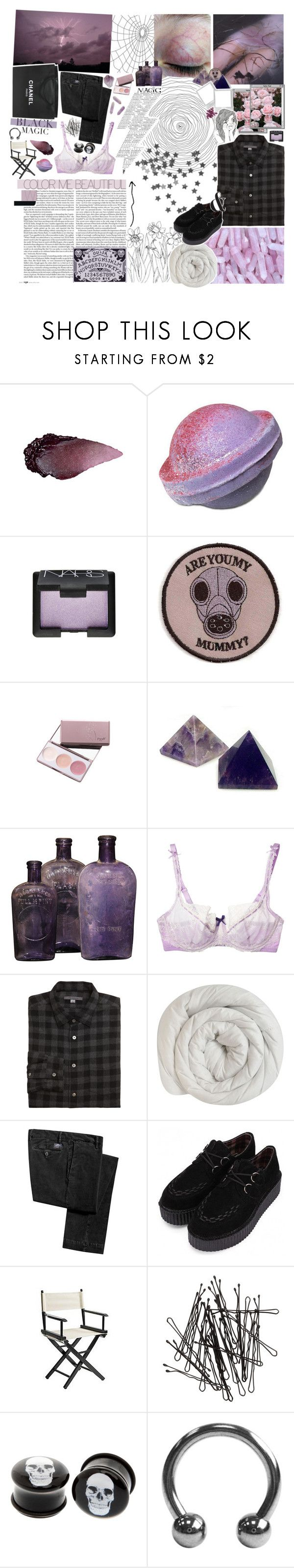 """""""Stop Putting Me Down"""" by amberishdead ❤ liked on Polyvore featuring Urban Decay, NARS Cosmetics, GAS Jeans, Elle Macpherson Intimates, MANGO, Chanel, John Varvatos, Pier 1 Imports, H&M and Hot Topic"""