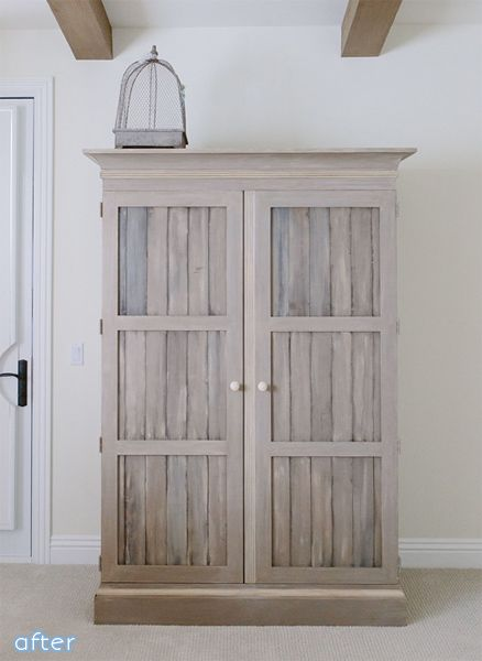 Rustic Dresser and Armoire Makeover | betterafter.net