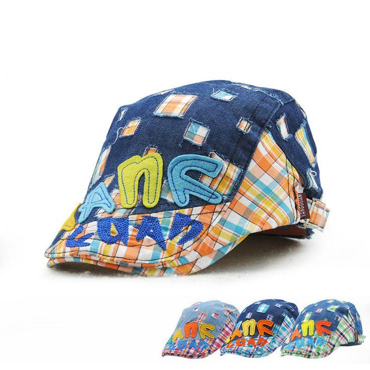 >> Click to Buy << 2017 Fashion Spring Summer kids Cap Boy Berets Outdoor Sun Hat Plaid Patchwork Cowboy Cap for Boy  #Affiliate