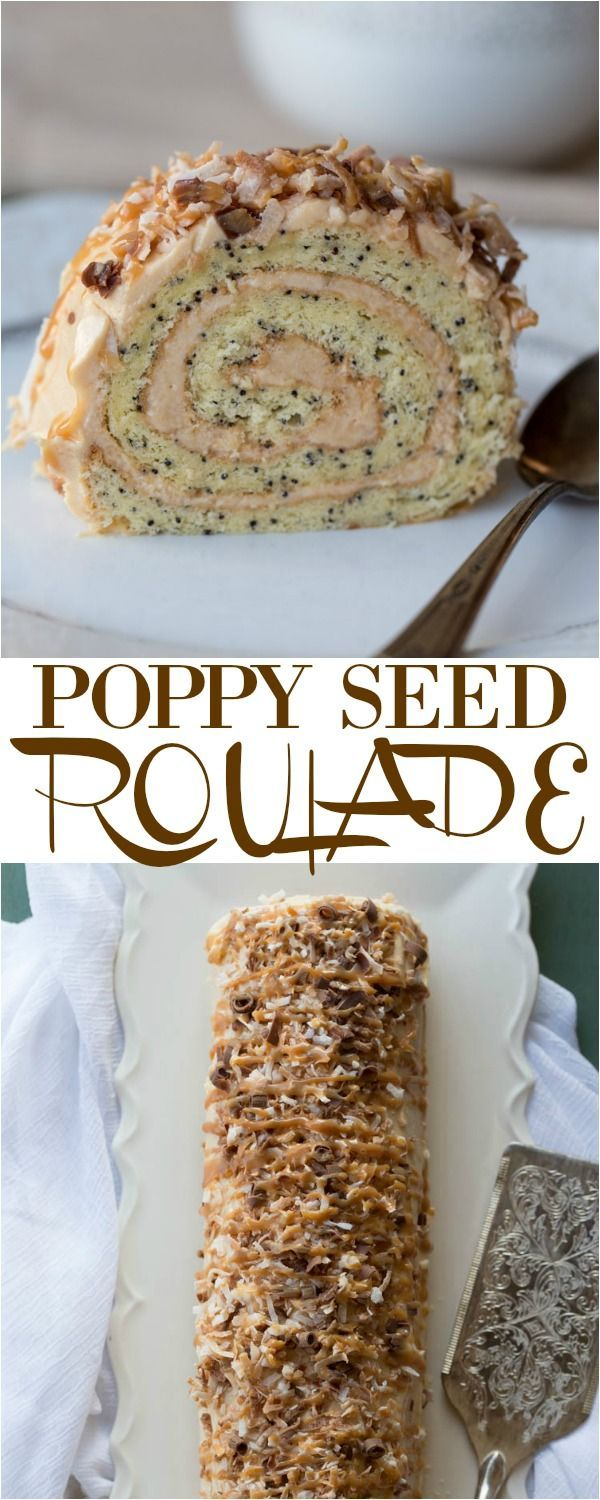 Poppy Seed Roulade with a dulce de leche cream.