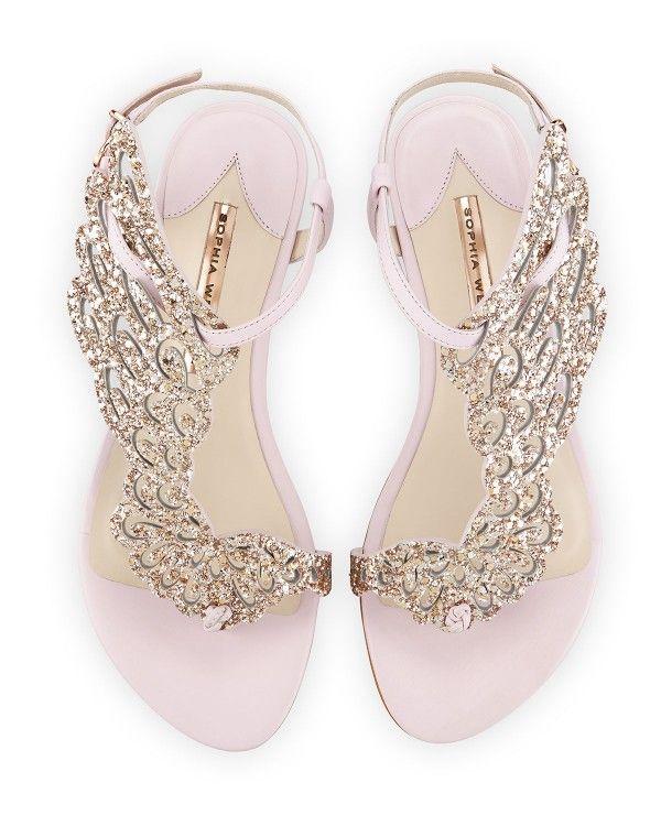 Sophia Webster - Seraphina Angel-Wing Flat Sandal