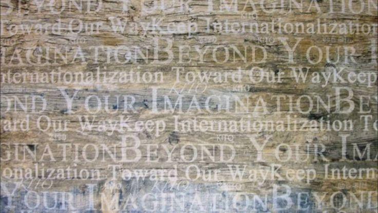 Timber Look Tiles with Graffiti Prints