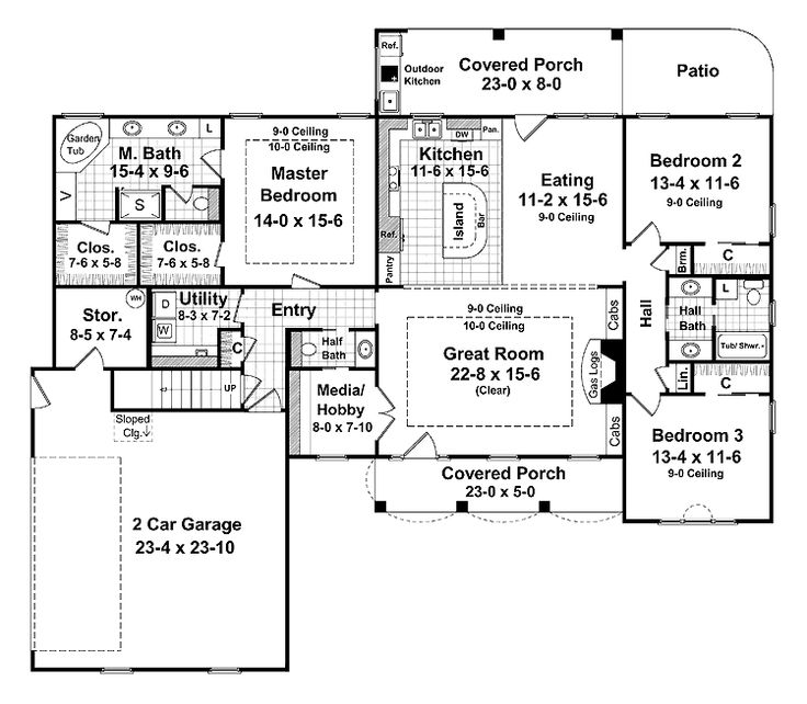 130 best House plans images on Pinterest | House floor plans ...