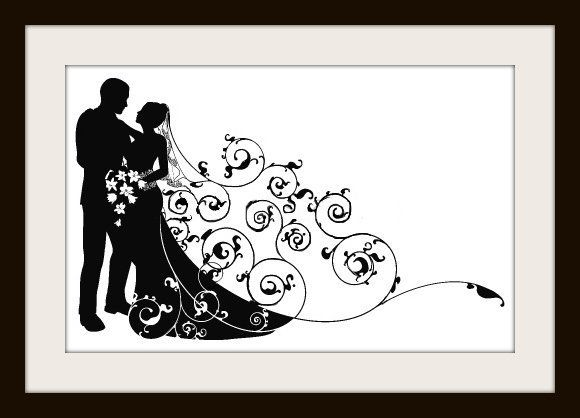 cross stitch wedding COUPLE SILHOUETTE - Google Search