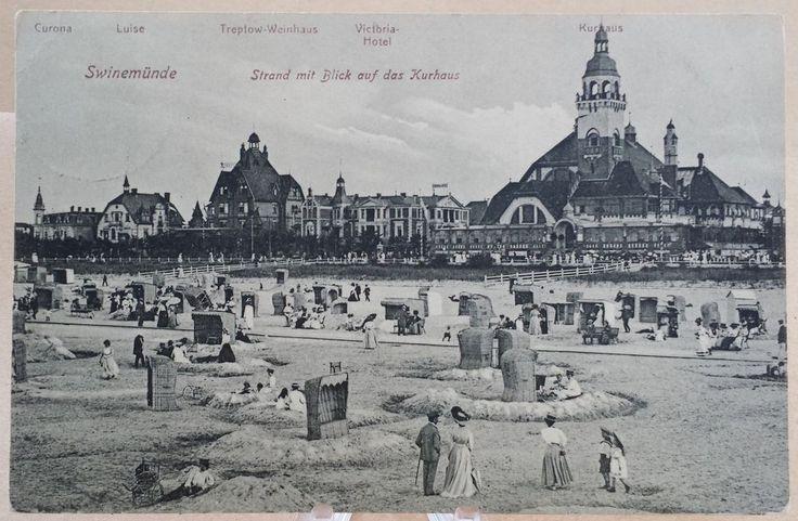 AK Swinemünde 1911 Strand Kurhaus Victoria-Hotel Treptow Weinhaus Pommern