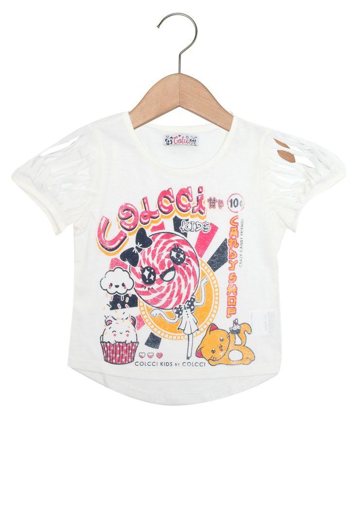 Camiseta Colcci Fun Manga Curta Menina Branco - Marca Colcci Kids