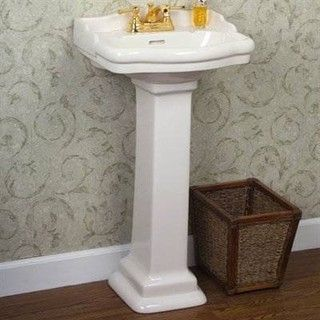 Now something like this would work well in the half-bath!  Hides the pipes and looks streamlined.  Not bad (ditch the gold fixtures though).