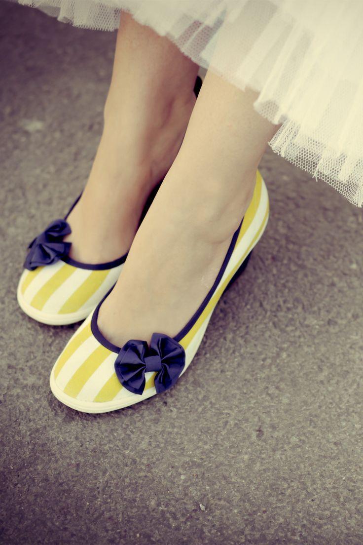 Yellow Wedge Heel Shoes