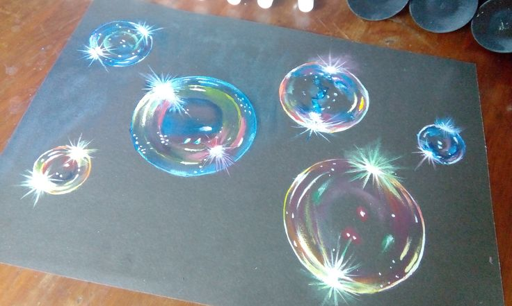 How to paint hyper realistic bubbles-acrylic painting tutorial