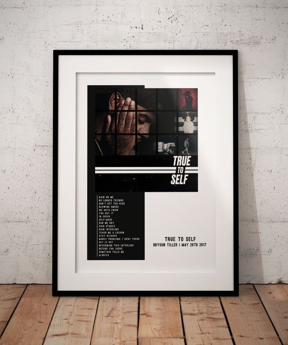 Bryson Tiller True To Self Customm Album Poster Bryson Tiller Poster The Weeknd Poster Iron Man Poster Good Kid Maad City