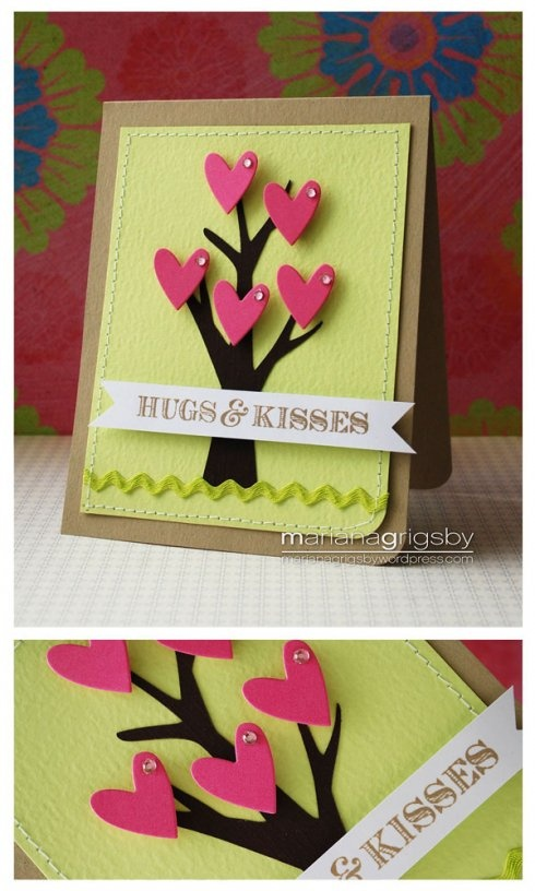 Hugs & Kisses card by mariana grigsby