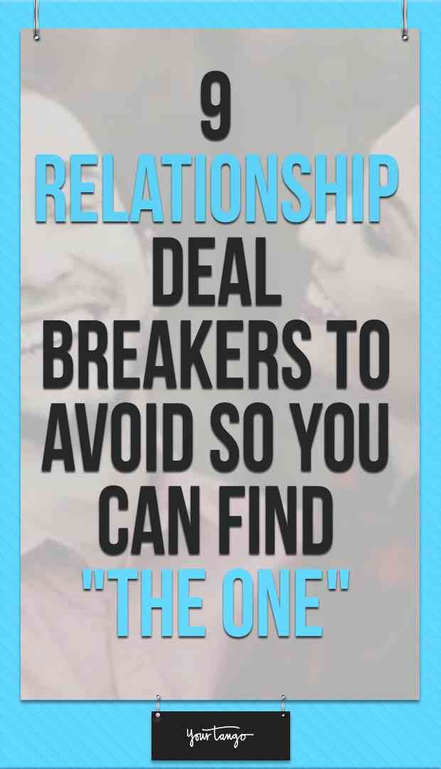 what is a deal breaker in a relationship