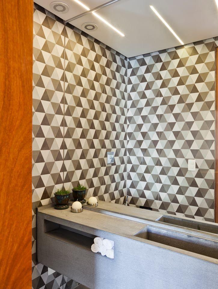 lavabo - revestimento geométrico: