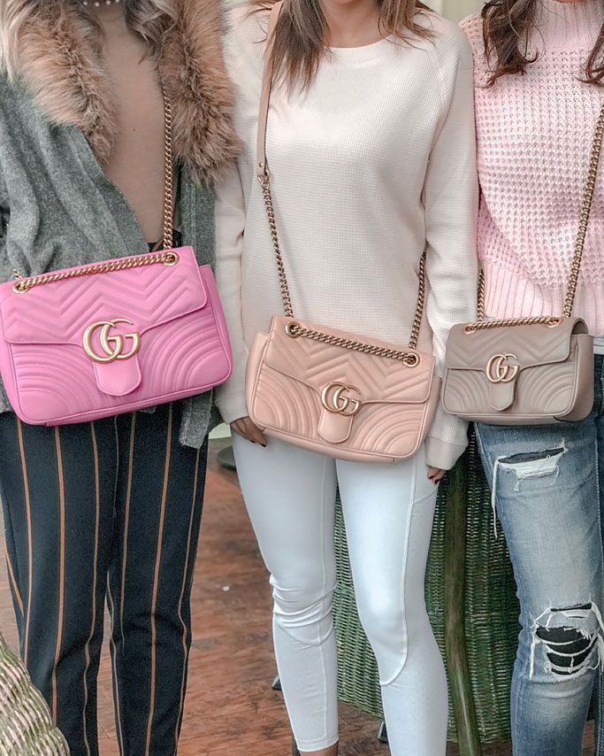 7e4eaf0cf5e3 Bubblegum Pink GG Marmont Matelasse Medium Shoulder Bag / Dusty Pink/Nude  GG Marmont Matelasse Mini Shoulder Bag / Light Pink GG Marmont Matelasse  Small ...