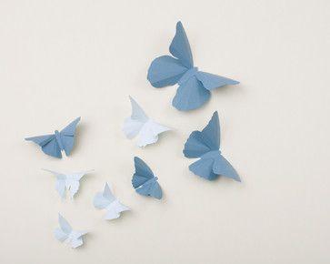 wall art kids   3D Butterfly Wall Art - eclectic - kids decor - portland - by Hip and ...