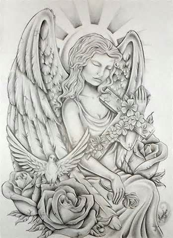 guardian angel tattoo designs for women | Angel Tattoo Pictures Images Designs Ideas Tattoos
