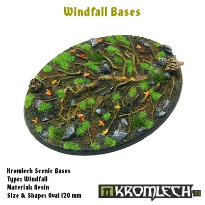 This set contains 1 oval 120 x 92 mm scenic base. Windfall theme.