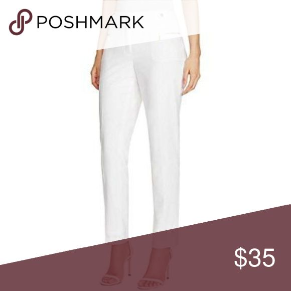 "Calvin Klein Women's Slim Fit Dress Pant Calvin Klein Women's Slim Fit Dress Pant  size 14 30"" waist 17.5""  hips 23"" inseam  Medium weight fabric Calvin Klein Pants Straight Leg"