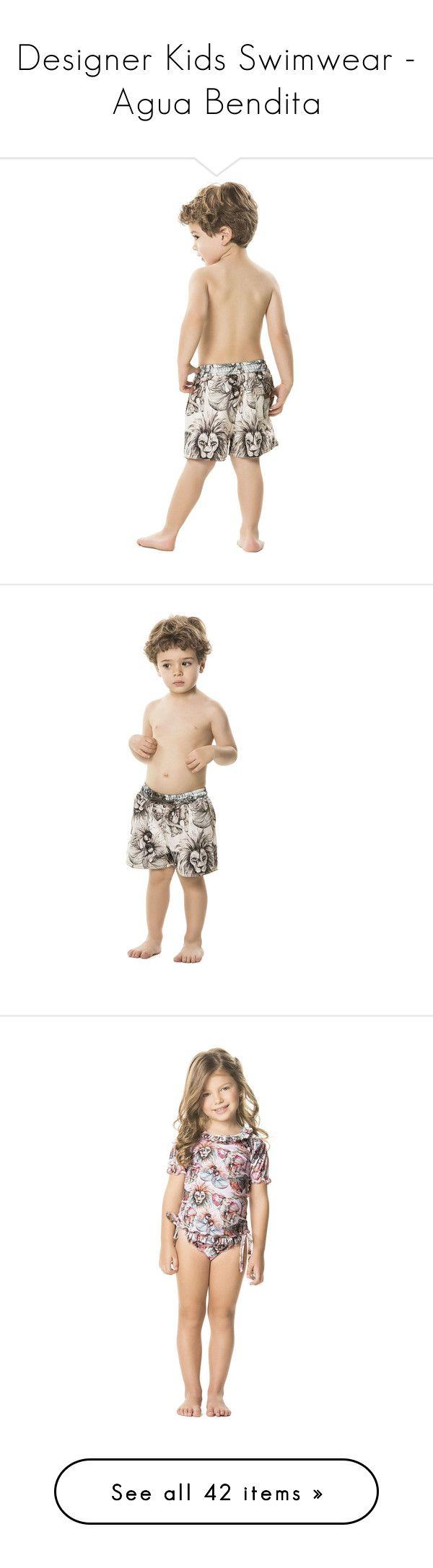 """Designer Kids Swimwear - Agua Bendita"" by bikiniluxe ❤ liked on Polyvore featuring swimwear, swim trunks, agua bendita, agua bendita swimwear, kids swimwear and kids"