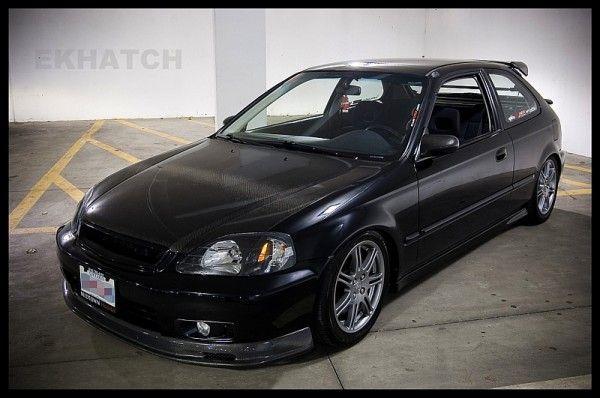 96 00 Honda Civic Hatchback Exact Fit Floor Mats Black
