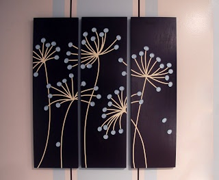 DYI dandelion plaques- SUPER EASY and probably better than wall decal