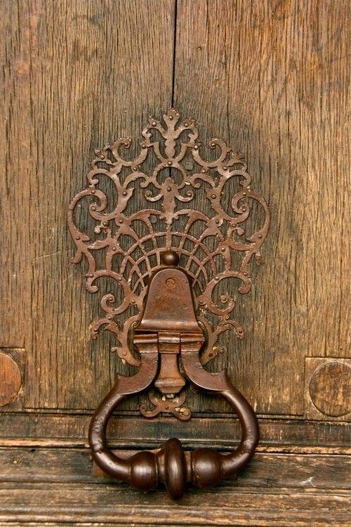Antique door knocker. So pretty.                                                                                                                                                                                 More