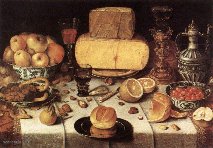 "Painting ""Gedekte tafel"" by Nicolaes Gillis - www.schilderijen.nu"