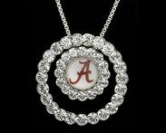 Mother's Day Idea - cute earrings to match too...University of Alabama Circle Pendant