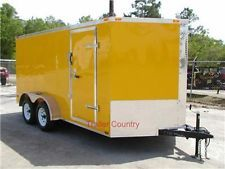 NEW 7x14 7 x 14  V-Nose Enclosed Cargo Trailer w/Rampheavy equipment trailers apply now www.bncfin.com/apply