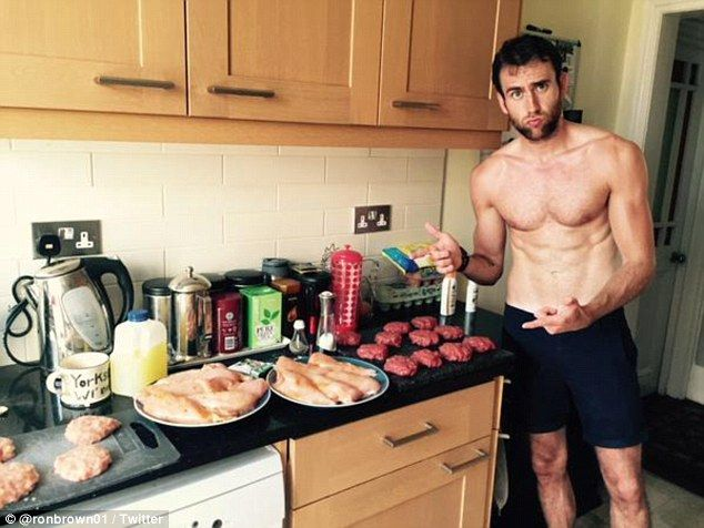 'Matthew Lewis loves his meat': A new topless photo of the Harry Potter star emerged and sent fans crazy as ever. You're welcome. :D