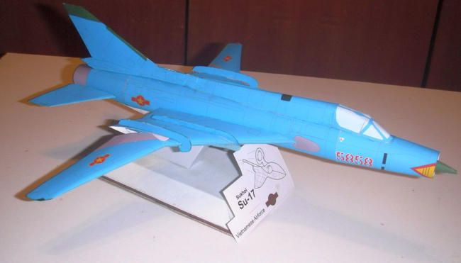 Vietnam Air Force Sukhoi Su-17 Fitter Free Aircraft Paper Model Download