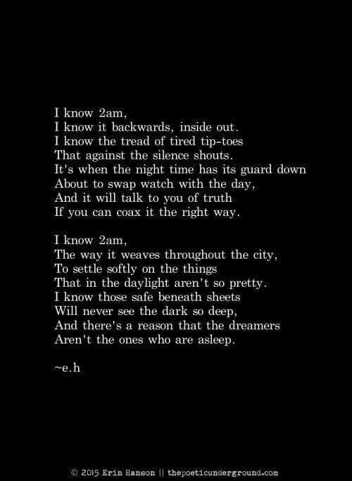 I know 2 am