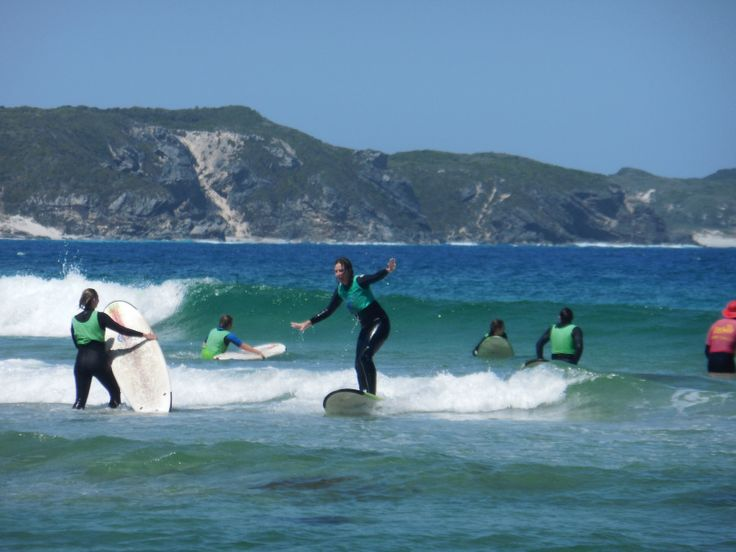 Taking surf lessons in Denmark, Western Australia