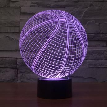 3D Illusion Basketball Desk Lamp (7 changing colors)